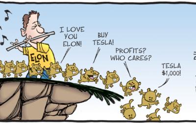 De nadelen van index-beleggen. Tesla.